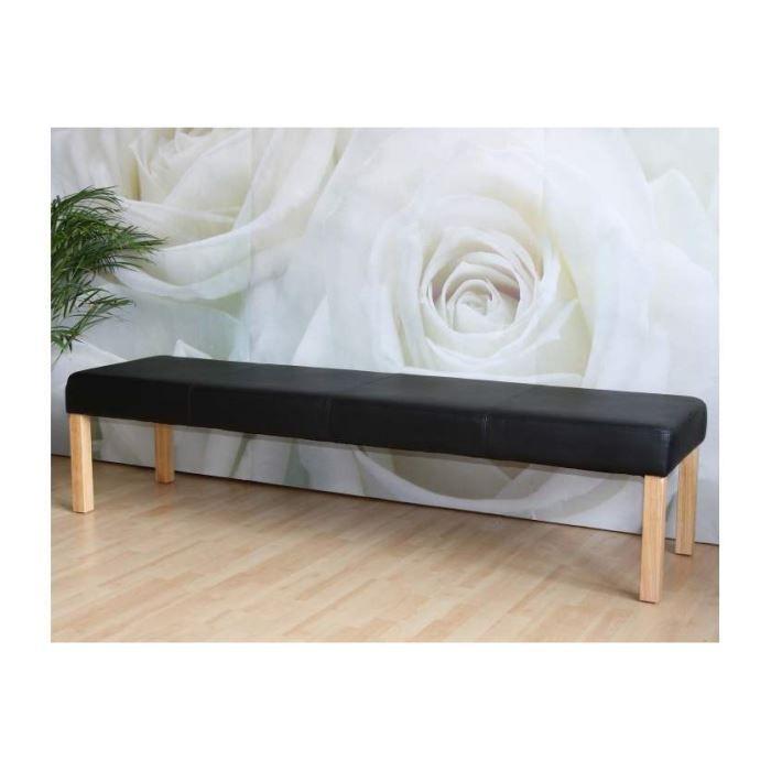 banc capitonn noir achat vente banc cdiscount. Black Bedroom Furniture Sets. Home Design Ideas