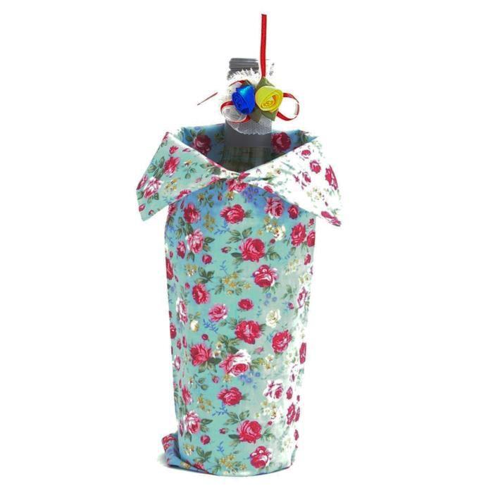 bouteille de vin sac cadeau couleur bleu achat vente cache bouteille bouteille de vin sac. Black Bedroom Furniture Sets. Home Design Ideas