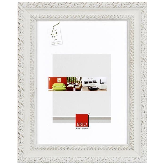 Brio cadre photo flanella blanchi 40x50 cm achat vente - Cadre photo 40x50 ...