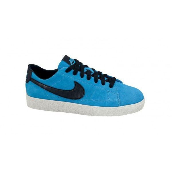 Nike Blazer Low Chaussures en cuir noir bleuouge