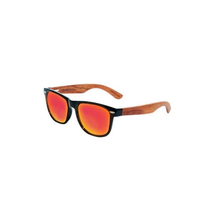 lunettes de soleil rainbow wayfarer femme homme unisex lunettes de soleil en bois polaris rw. Black Bedroom Furniture Sets. Home Design Ideas