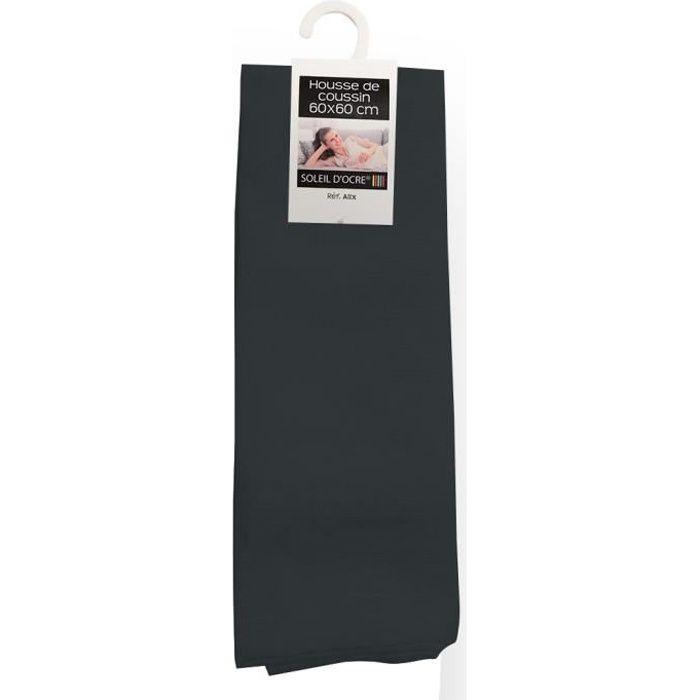 housse de coussin 60x60 cm alix anthracite achat vente housse de coussin cdiscount. Black Bedroom Furniture Sets. Home Design Ideas