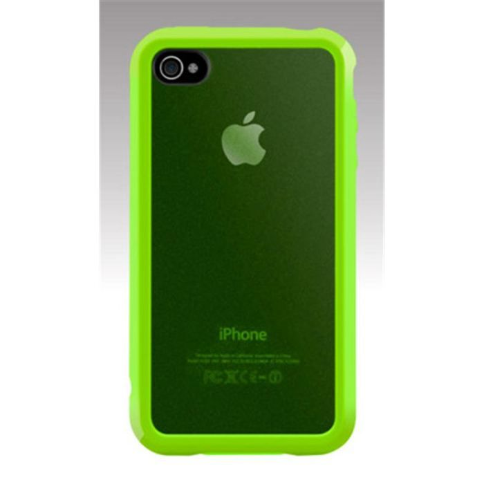 coque iphone 4 d 39 origine switcheasy trim vert achat coque bumper pas cher avis et meilleur. Black Bedroom Furniture Sets. Home Design Ideas