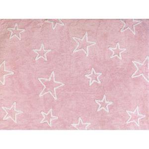tapis tapis chambre enfant et bbtoiles rose fille lav - Tapis De Chambre Fille