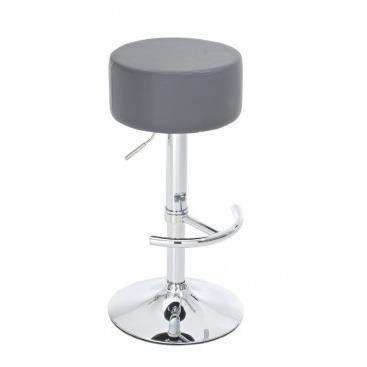 tabouret de bar rond telica gris achat vente tabouret de bar pu m tal simili cdiscount. Black Bedroom Furniture Sets. Home Design Ideas