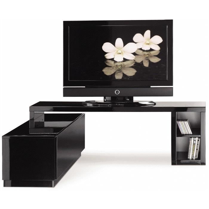 meuble tv modulable laqu blanc ou noir achat vente meuble tv meuble tv modulable laqu b. Black Bedroom Furniture Sets. Home Design Ideas