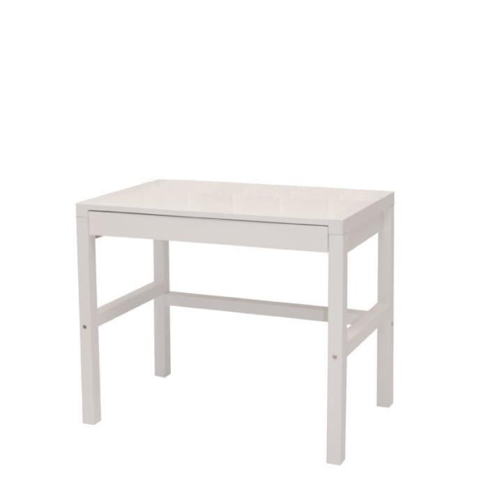 Bureau 1 tiroir laqu blanc slim achat vente bureau for Bureau 1 tiroir jimi