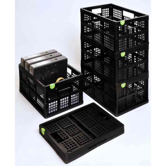 casier de rangement pliable 32 l noir recycl f achat vente boite de rangement cdiscount. Black Bedroom Furniture Sets. Home Design Ideas