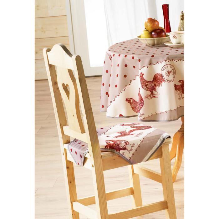 Galette de chaise 4 rabats belle epoque beige r achat for Galette de chaise 4 rabats
