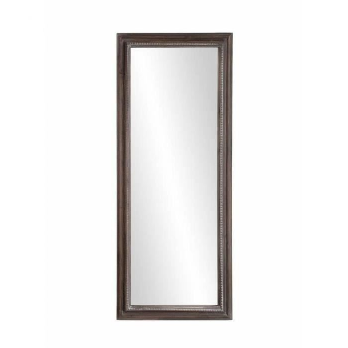 Miroir rectangulaire cassie 40 x 100 cm en bois de for Miroir 150 x 100