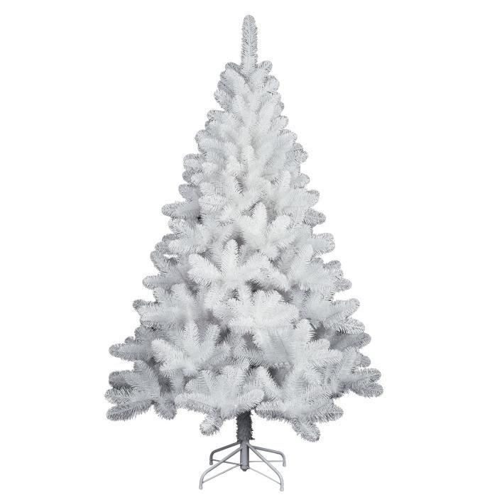 sapin artificiel nordique blanc h 210 cm achat vente. Black Bedroom Furniture Sets. Home Design Ideas