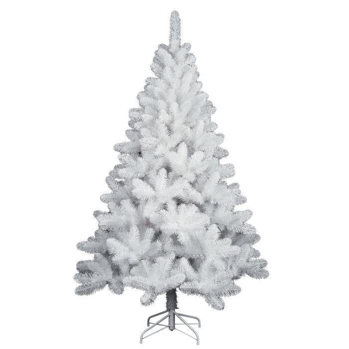 sapin artificiel nordique blanc h 210 cm achat vente. Black Bedroom Furniture Sets. Home Design Ideas
