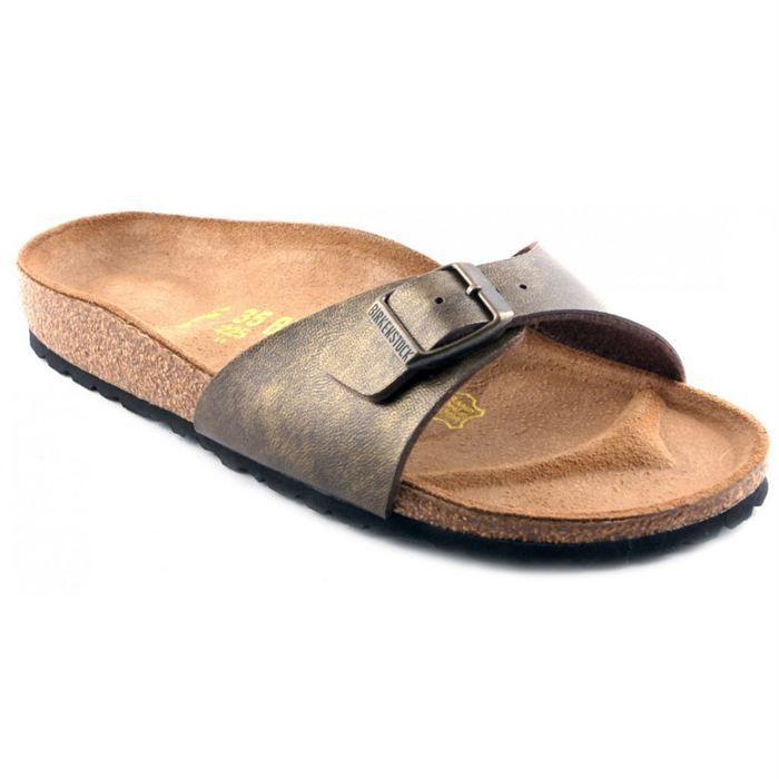 sandales birkenstock madrid femme kaki achat vente sandales birkenstock madrid femme pas. Black Bedroom Furniture Sets. Home Design Ideas