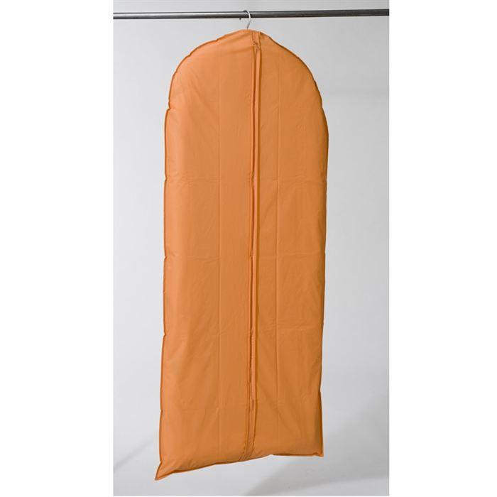 housse longue pour vetements orange achat vente housse de rangement housse longue pour. Black Bedroom Furniture Sets. Home Design Ideas