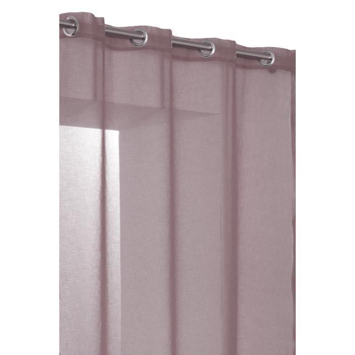 rideau voilage tissu effet lin lourd rose perle fonce achat vente rideau cdiscount. Black Bedroom Furniture Sets. Home Design Ideas