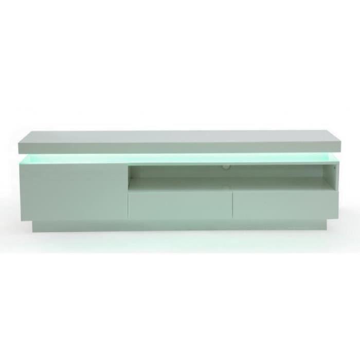 Meuble tv emerson 1 porte 2 tiroirs mdf laqu achat for Meuble porte four