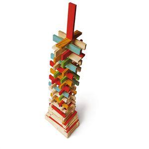 ASSEMBLAGE CONSTRUCTION JEUJURA - TECAP ? COLOR - 300 pièces en bois