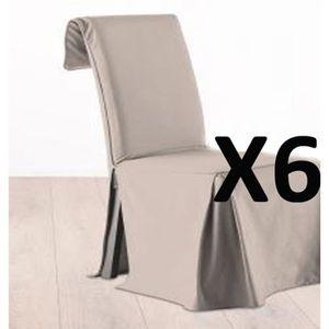 Lot 6 housse de chaise achat vente lot 6 housse de for Housse de chaise beige