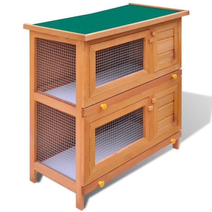 Abris et cages pour petits animaux cage clapier exterieur for Abri lapin exterieur