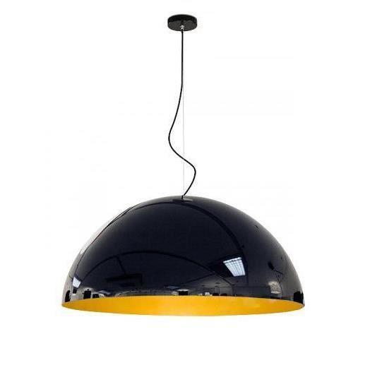 suspension pop laqu e noire et jaune achat vente suspension pop laqu e noire. Black Bedroom Furniture Sets. Home Design Ideas