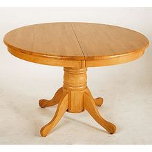 Table ronde allonge palmyre miel achat vente table for Table ronde 8 couverts