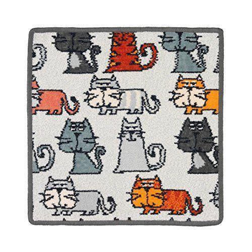 feiler cats00040215 serviette essuie mains motif chats gris ardoise 30 x 30 cm quantit 1. Black Bedroom Furniture Sets. Home Design Ideas