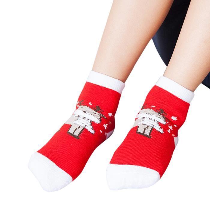 beau renne chaussettes chaudes l 39 hiver des chaussons pour enfants rouge m achat vente. Black Bedroom Furniture Sets. Home Design Ideas