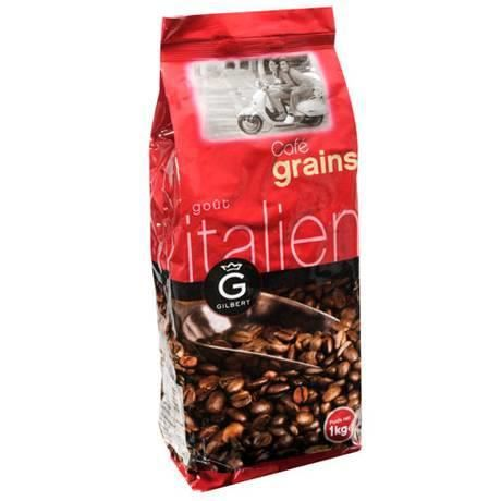 gilbert caf en grains italien 80 arabica 20 robusta 1 kg achat vente caf chicor e. Black Bedroom Furniture Sets. Home Design Ideas