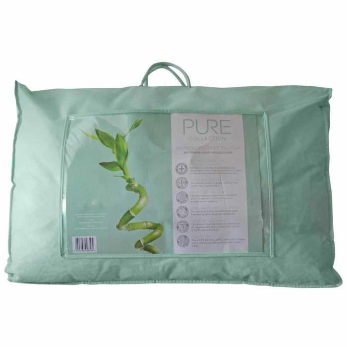 oreiller naturel en coton bio et fibre de bambou 50 x 75 cm confort et relaxation achat. Black Bedroom Furniture Sets. Home Design Ideas