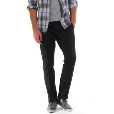 pantalon homme classique a pinces noir achat vente. Black Bedroom Furniture Sets. Home Design Ideas