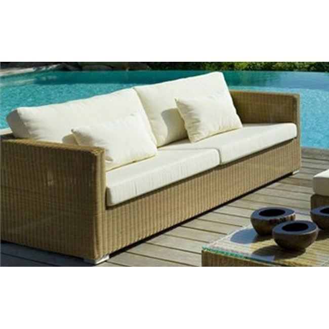 canap de jardin 3 places chester en r sine tre achat vente canap sofa divan cdiscount. Black Bedroom Furniture Sets. Home Design Ideas