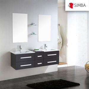 meuble salle de bain 150 cm achat vente meuble salle de bain 150 cm pas cher soldes. Black Bedroom Furniture Sets. Home Design Ideas