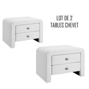Table de chevet achat vente table de chevet pas cher - Table chevet blanc ...
