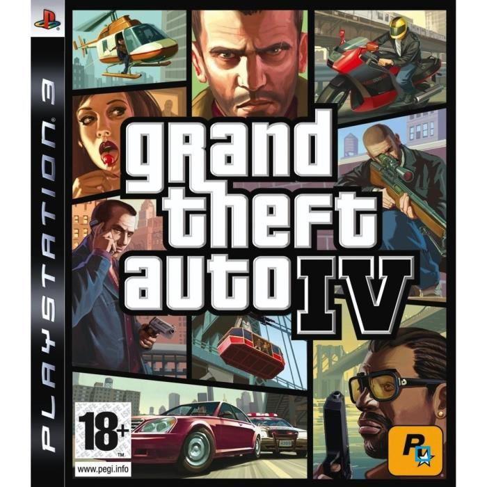 JEU PS3 GTA IV / JEU CONSOLE PS3