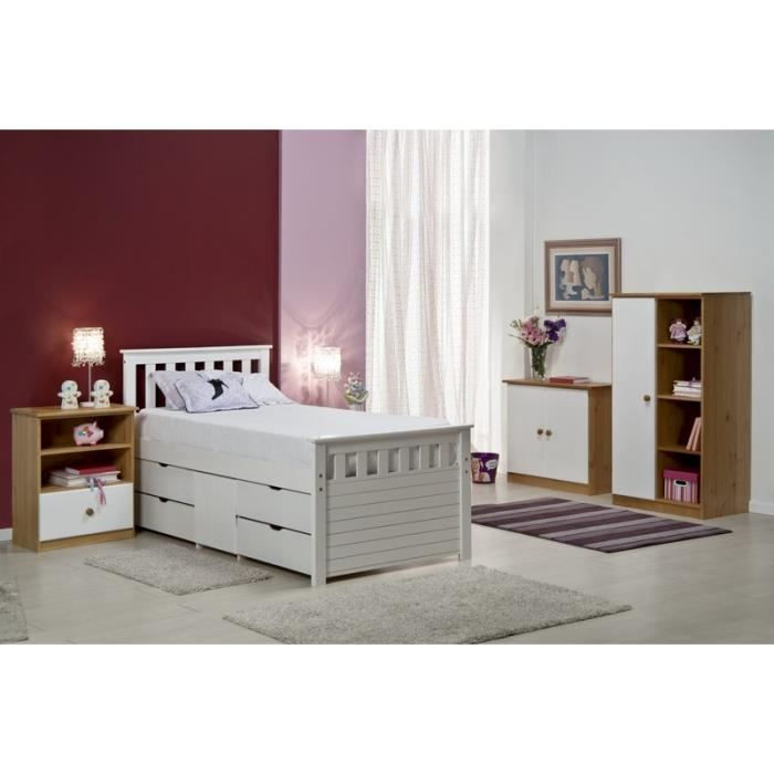 Chambre compl te blanche jill meuble house achat for Chambre complete blanche
