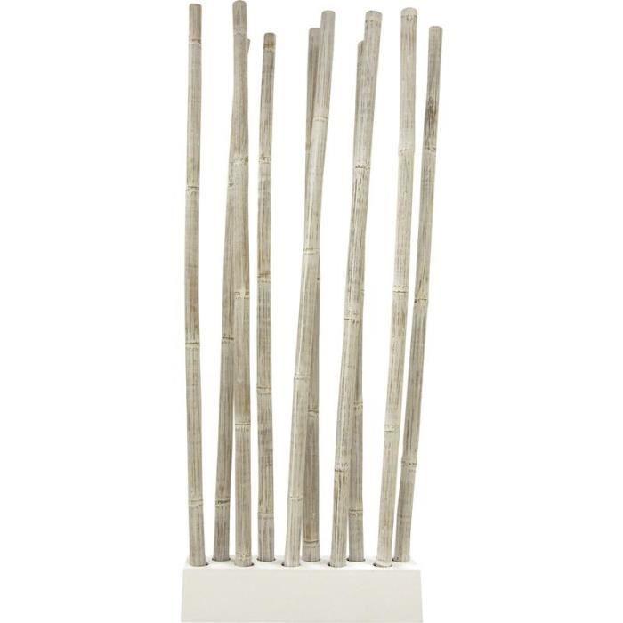 paravent avec socle 10 tiges de bambou patin achat vente paravent bambou cdiscount. Black Bedroom Furniture Sets. Home Design Ideas