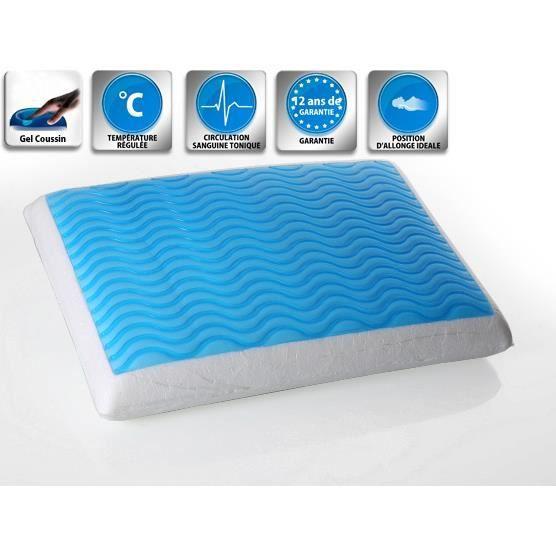 oreiller en mousse m moire de forme avec gel 60x40 cm emin achat vente oreiller. Black Bedroom Furniture Sets. Home Design Ideas