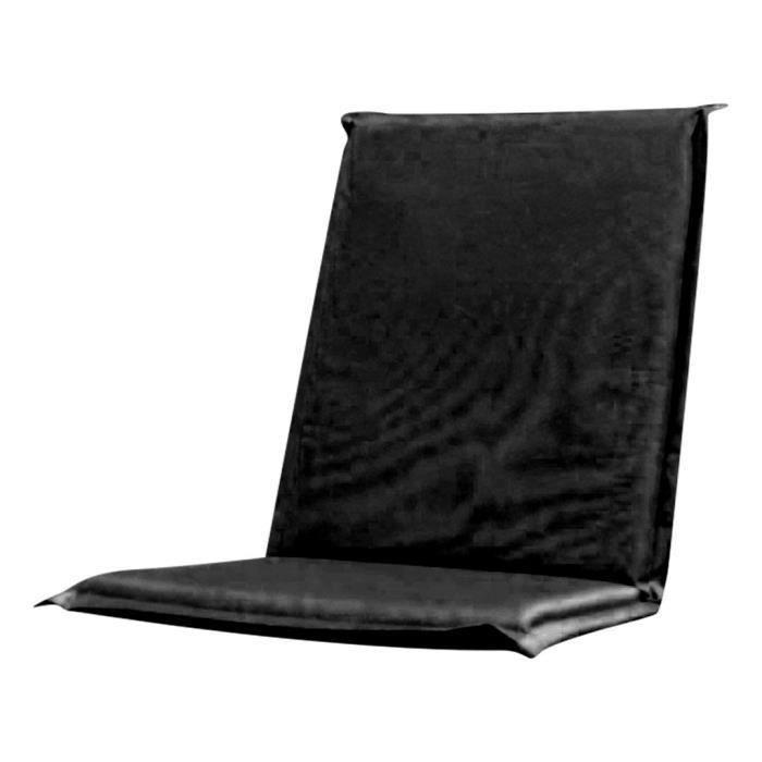 Coussin avec dossier pour chaise pliable noir achat - Coussin de chaise avec dossier ...