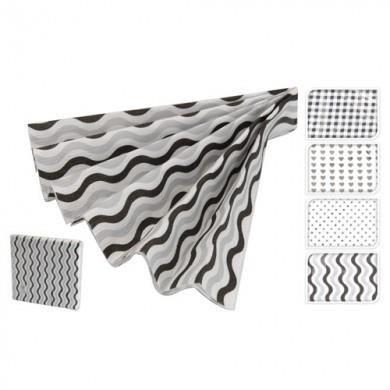 Serviette blanc et noir achat vente serviette de table for Serviette de table noir