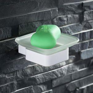 distributeur de savon porte savon mural coupelle en verre dpoli support - Vitrine Magique Accessoire Salle Deau