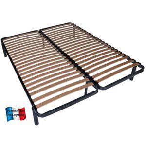 sommier en deux parties achat vente sommier en deux parties pas cher cdiscount. Black Bedroom Furniture Sets. Home Design Ideas