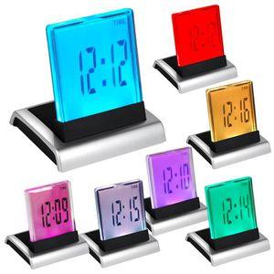 Radio réveil TRIXES RÉVEIL DIGITAL LCD LED 7 COULEURS AVEC THER