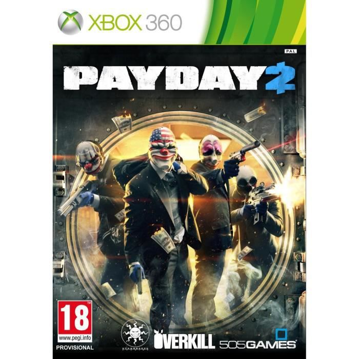 JEUX XBOX 360 PAY DAY 2 / Jeu console XBOX 360