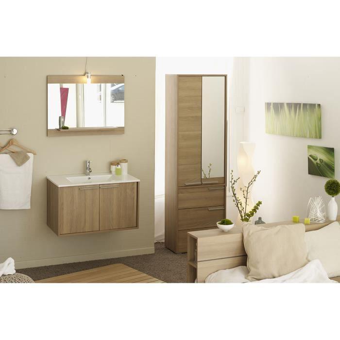 Meuble salle de bain vasque c ramique miroir achat for Ceramique salle de bain photo