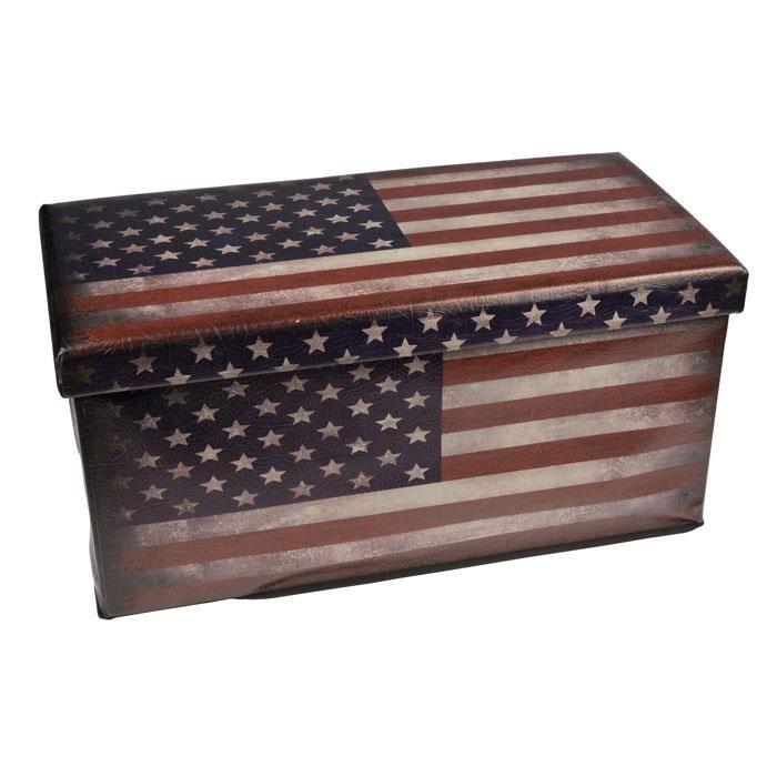 pouf pliable avec coffre de rangement mod le usa achat. Black Bedroom Furniture Sets. Home Design Ideas