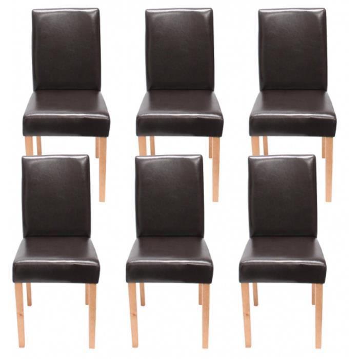 lot 6 chaises cuir achat vente lot 6 chaises cuir pas. Black Bedroom Furniture Sets. Home Design Ideas