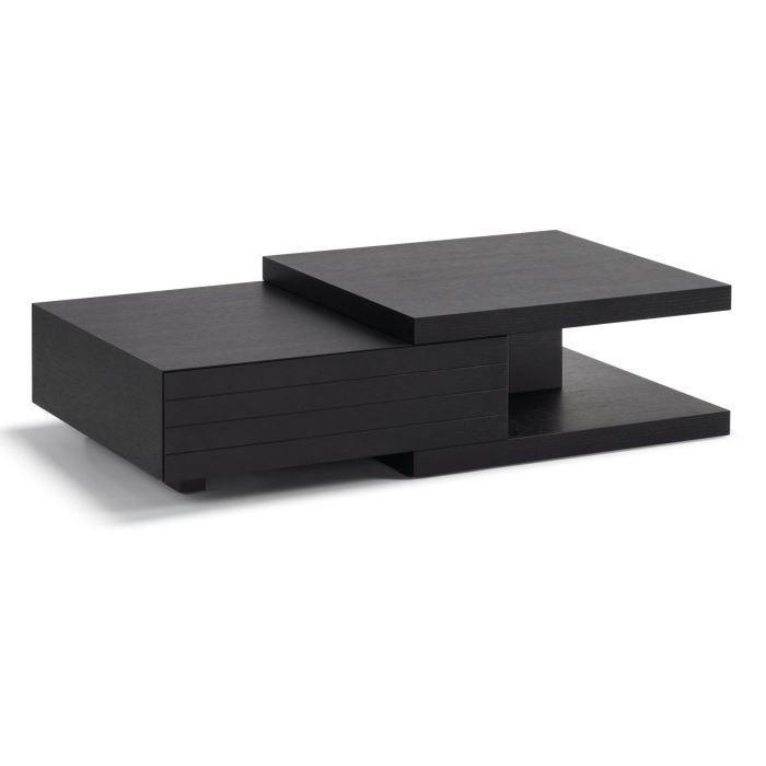 table basse moderne noir gisel 4 achat vente table. Black Bedroom Furniture Sets. Home Design Ideas