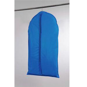 Housse courte pour v?tements bleue 60x100 cm