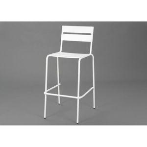 chaises de bar blanche achat vente chaises de bar blanche pas cher cdiscount. Black Bedroom Furniture Sets. Home Design Ideas