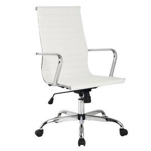 Fauteuil de bureau blanc achat vente fauteuil de - Fauteuil bureau soldes ...